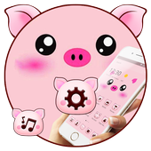 Pink Cartoon Piggy Kawaii Theme icon