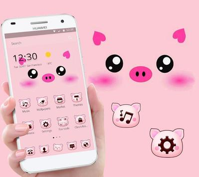 Pink Cartoon Piggy Kawaii Theme screenshot 2