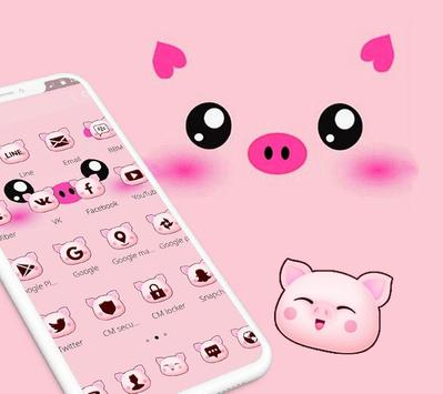 Pink Cartoon Piggy Kawaii Theme screenshot 3