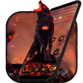 Lava Gruesome Wolf Launcher Theme icon