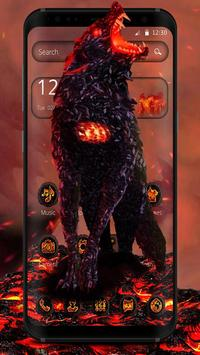 Lava Gruesome Wolf Launcher Theme poster