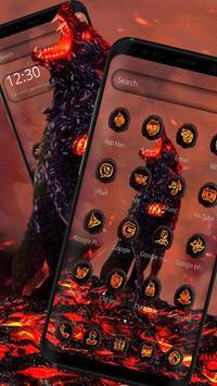Lava Gruesome Wolf Launcher Theme screenshot 1