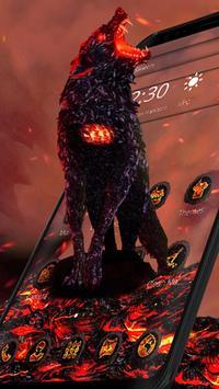 Lava Gruesome Wolf Launcher Theme screenshot 3
