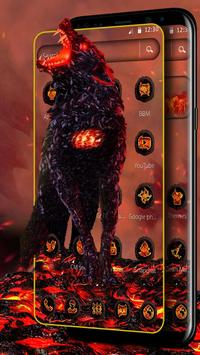 Lava Gruesome Wolf Launcher Theme screenshot 6