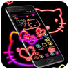 Kitty cat cute cartoon neon theme アイコン