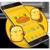 Karikatur-gelbes nettes Enten-Thema Zeichen