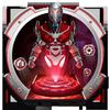 Red Sci-fi futuristic Robot Launcher アイコン