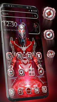 Red Sci-fi futuristic Robot Launcher poster
