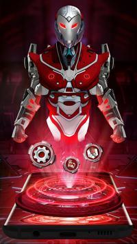 Red Sci-fi futuristic Robot Launcher screenshot 1