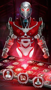 Red Sci-fi futuristic Robot Launcher screenshot 3