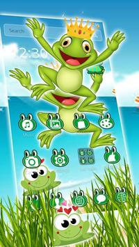 Kawaii Big Eyes Green Cartoon Frog Theme screenshot 2