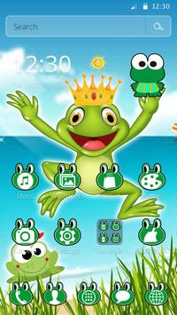 Kawaii Big Eyes Green Cartoon Frog Theme screenshot 5
