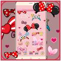 Cartoon pink cute butterfly theme wallpaper