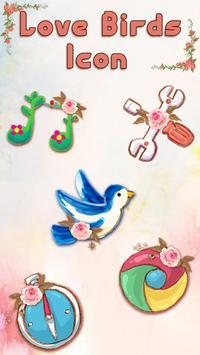 catchy sweet love birds Launcher Theme screenshot 1