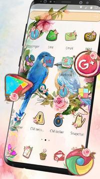 catchy sweet love birds Launcher Theme screenshot 7