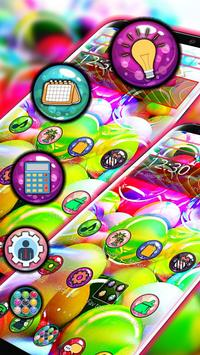 Glassy Colorful Bubble Theme poster