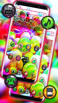 Glassy Colorful Bubble Theme screenshot 1