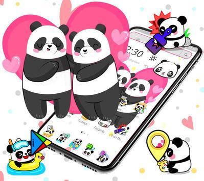 Cute Pink Lovely Panda Launcher Theme🐼💖 screenshot 4