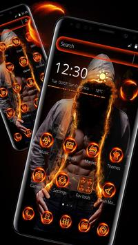 Flaming Hoodie Fighter Launcher Theme screenshot 4