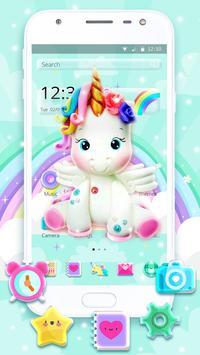 Cute Rainbow Unicorn Launcher Theme screenshot 1