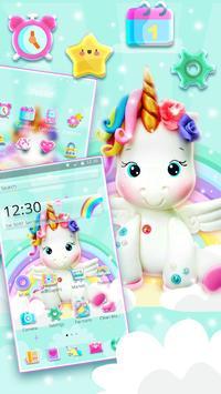 Cute Rainbow Unicorn Launcher Theme screenshot 2