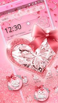 Pink Diamond Heart Live Theme poster