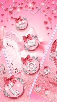 Pink Diamond Heart Live Theme screenshot 1