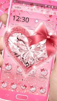 Pink Diamond Heart Live Theme screenshot 3