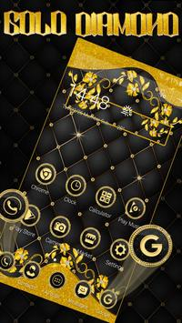 Matt Black Gold Diamond Launcher Theme screenshot 2