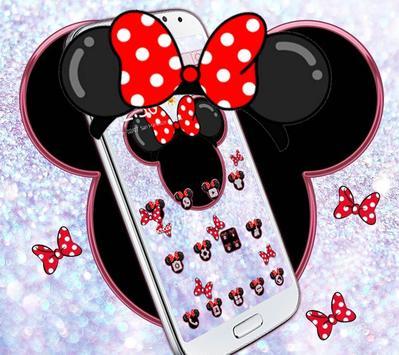Minnie's bow shining desktop theme wallpaper screenshot 1