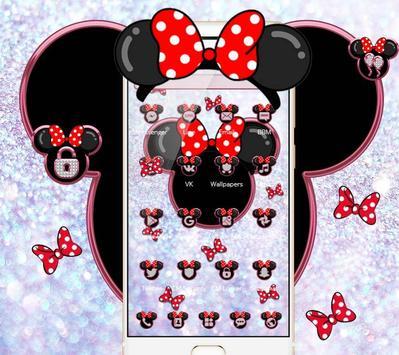 Minnie's bow shining desktop theme wallpaper screenshot 2