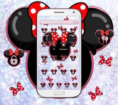 Minnie's bow shining desktop theme wallpaper screenshot 3