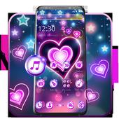 Colorful Neon Lustrous Heart Theme icon