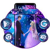 Moonlight Lovely Couple Launcher Theme icon