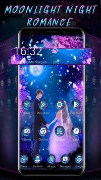 Moonlight Lovely Couple Launcher Theme poster