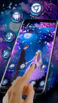 Moonlight Lovely Couple Launcher Theme screenshot 1