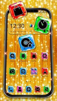Luxury Glossy Sparkling Gold Theme screenshot 1