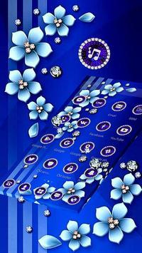 Blue Flower Glitter Diamond Business Theme screenshot 1