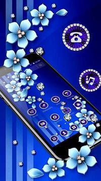 Blue Flower Glitter Diamond Business Theme screenshot 2