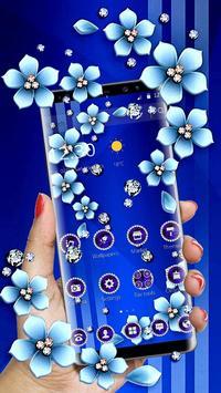 Blue Flower Glitter Diamond Business Theme screenshot 3