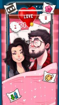 Cartoon Romantic Couple Launcher Theme poster