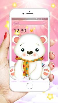 Cute Polar Bear Theme🐨 poster