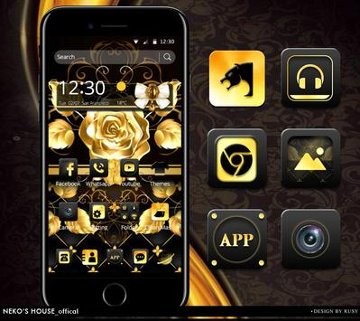 Golden Silk Rose Theme For Huawei Mate 20 Pro poster