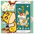 Green Cartoon Giraffe Wallpaper Cute Icon Theme