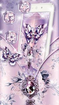 Purple Diamond Silk Butterfly poster