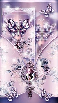Purple Diamond Silk Butterfly screenshot 1