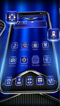 Cool Shine Metallic Blue Theme screenshot 1