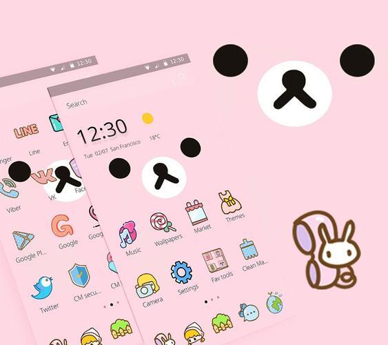Download Cute Cartoon Pink Bear Theme Free For Android Cute Cartoon Pink Bear Theme Apk Download Steprimo Com