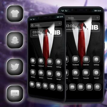 The Man In Black Launcher theme screenshot 1