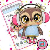 Cute Owl Cartoon Love theme 🦉 icon
